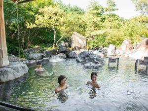 長島温泉・湯あみの島のお風呂に浸かり家族でゆったり癒やされよう