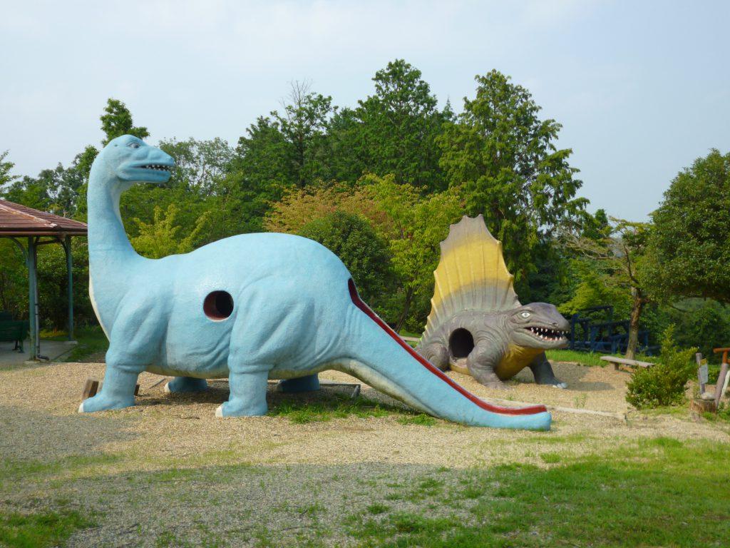 アパトサウルスのすべり台など/四日市スポーツランド(三重県/四日市市)