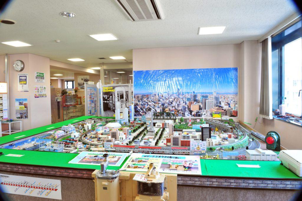 資料センターのジオラマ/市営交通資料センター(愛知県/名古屋市)
