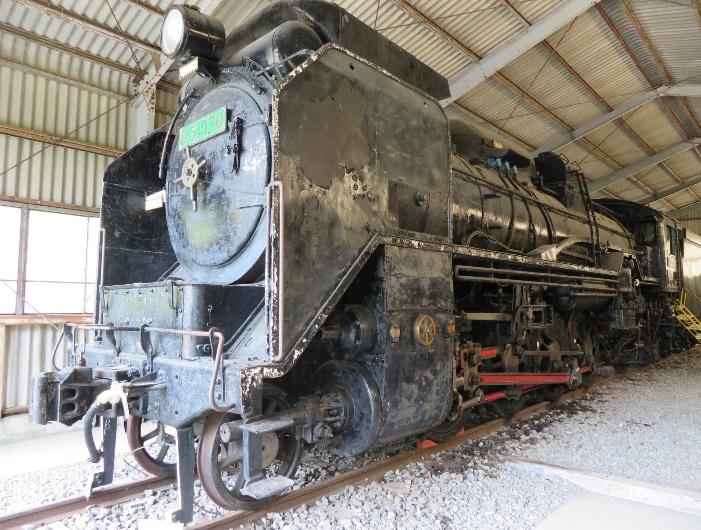 D51-170号蒸気機関車/人吉市SL展示館(熊本県/人吉市)